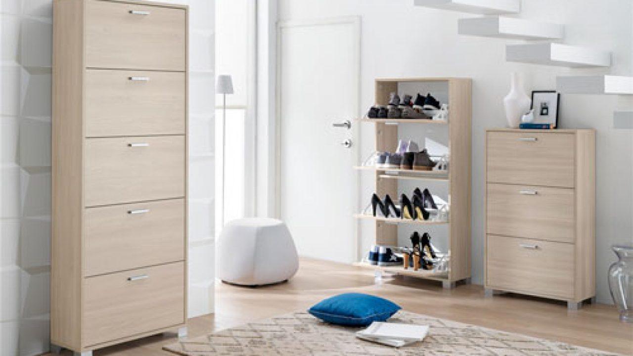 Miadomodo Scarpiera armadio mobile per scarpe anta unica con specchio colore bianco